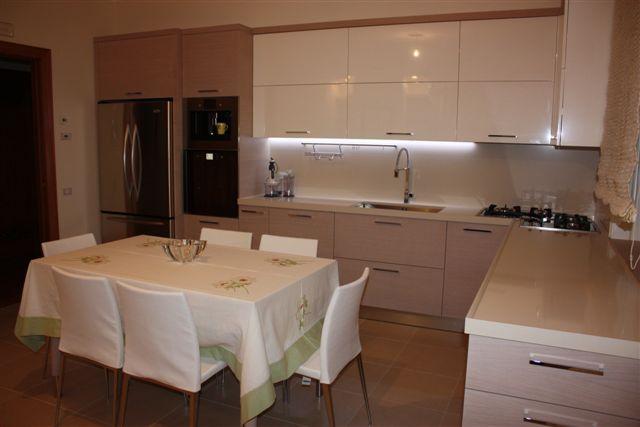 Cucina Rovere Bianco. Cheap Cucina Laccata In Rovere Con Isola ...